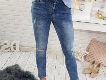 spodnie damskie jeansowe - stylizacja